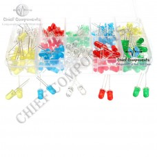 125pcs 5 Colours 10 Types Assorted LED Diodes