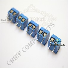 5 Pcs 2 Pin 5mm Pitch PCB Screw Terminal Block Connector (HIGH QUALITY)