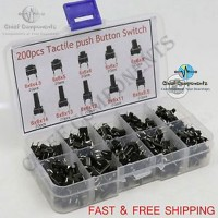 8pcs 4 Value Tactile Push Button Switch Micro Switch For Mp3 Mp4 Lcd