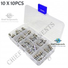 20pcs 10 values 5*20mm Electrical Assorted Fuse Amp Fast-blow Glass Fuse Mix Set Assorted  0.2A 0.5A 1A 2A 3A 5A 8A 10A 15A 20A