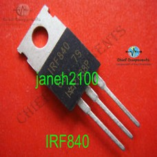 4pcs IRF840 N Channel Power MOSFET 8A 500V 8 Ampere 500 Volt Package TO-220  Mounting Hole Dia 3mm